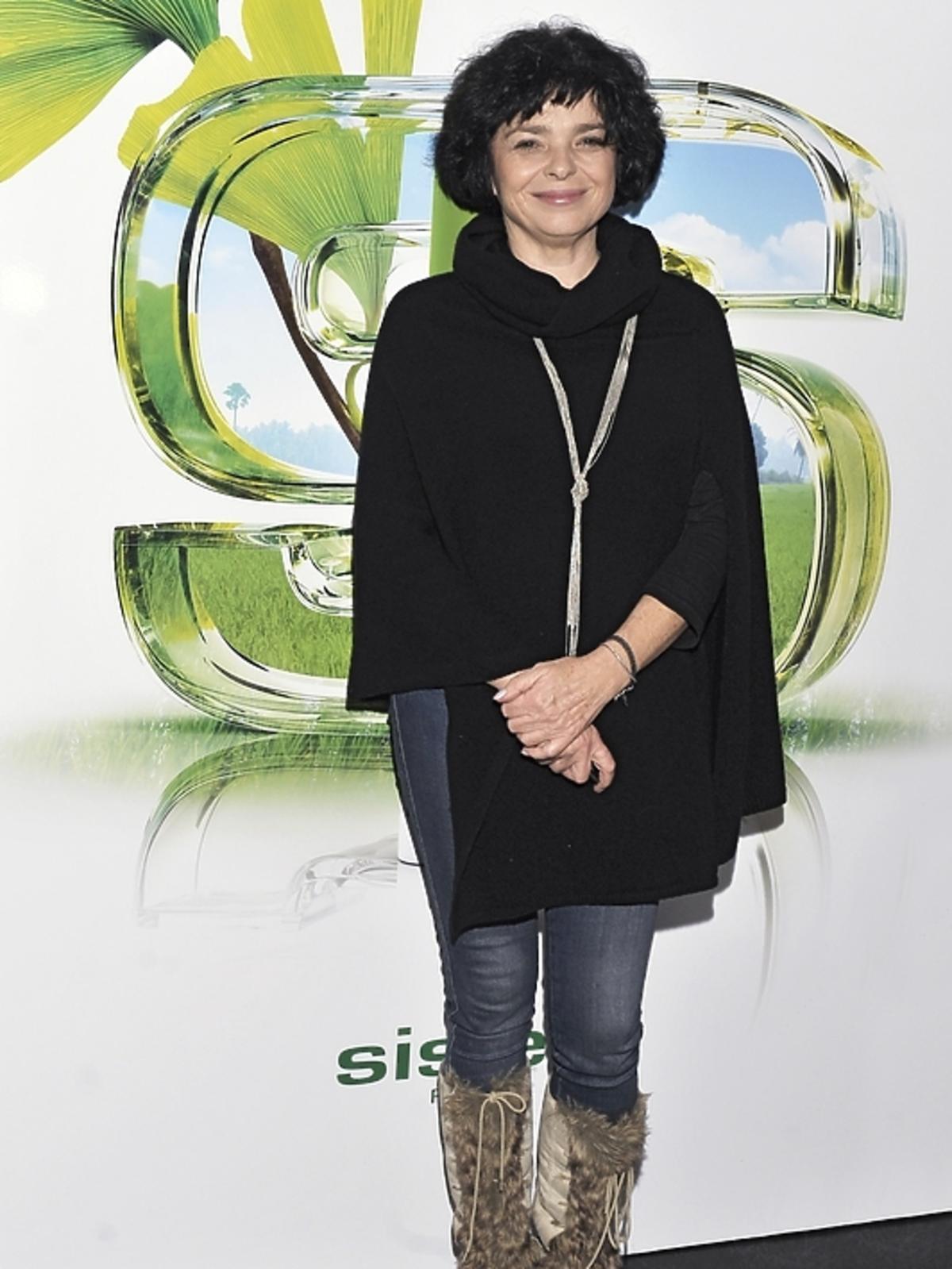 Katarzyna Grochola na prezentacji kosmetyków Sisley