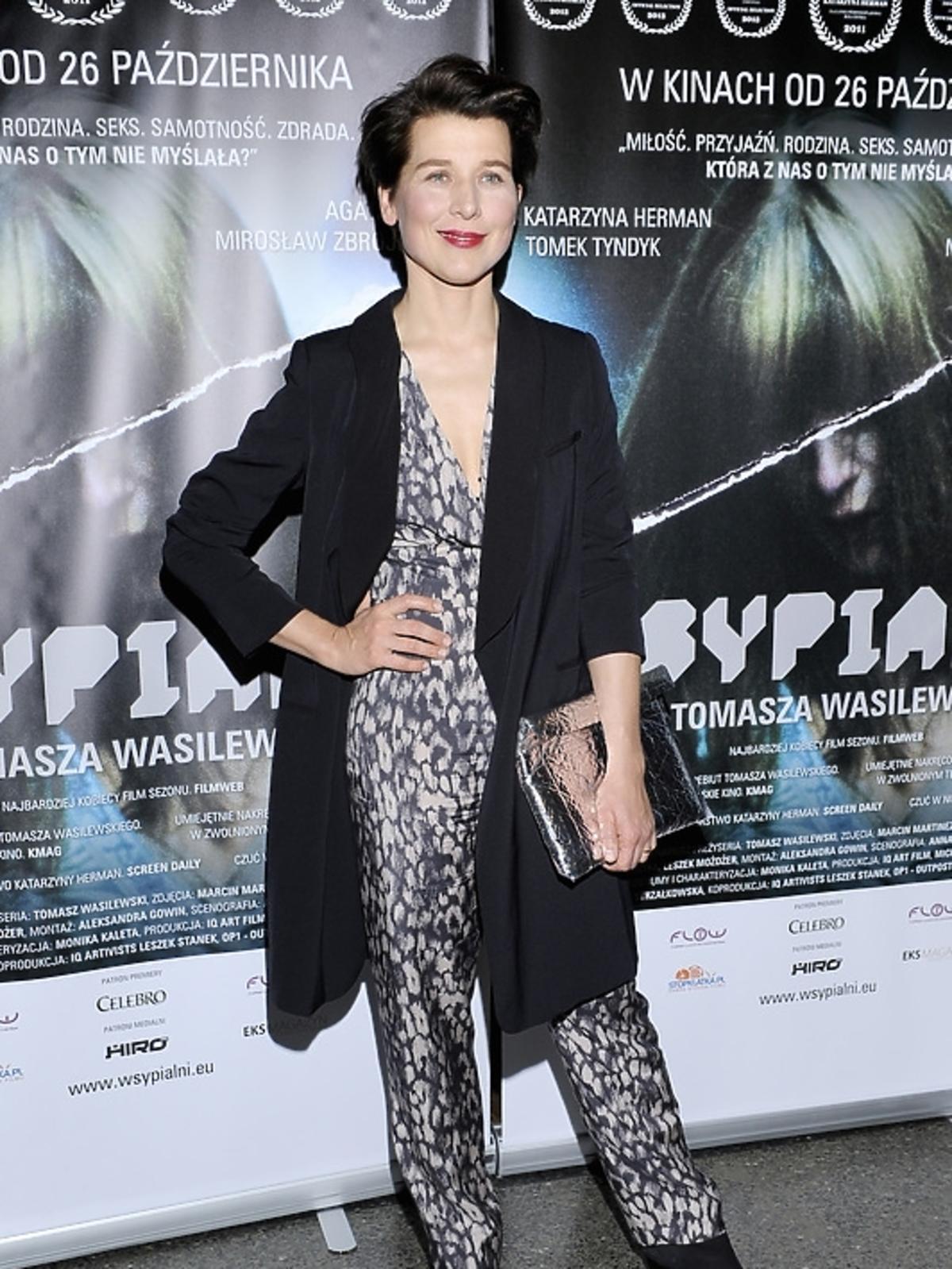 Katarzyna Herman na premierze filmu