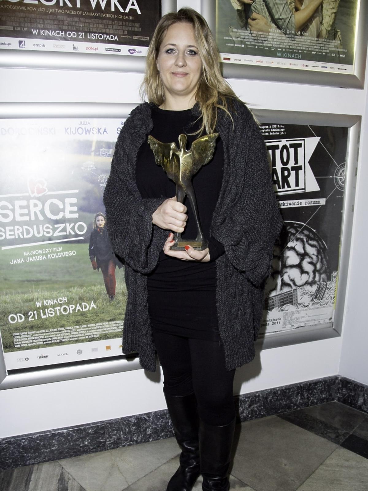 Katarzyna Jungowska na rozdaniu nagród im. Morgensterna