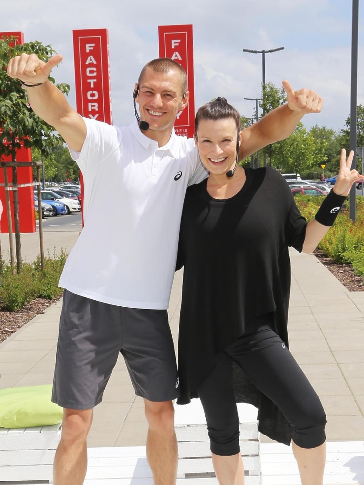Katarzyna Kępka i Szymon Gaś prowadzą trening