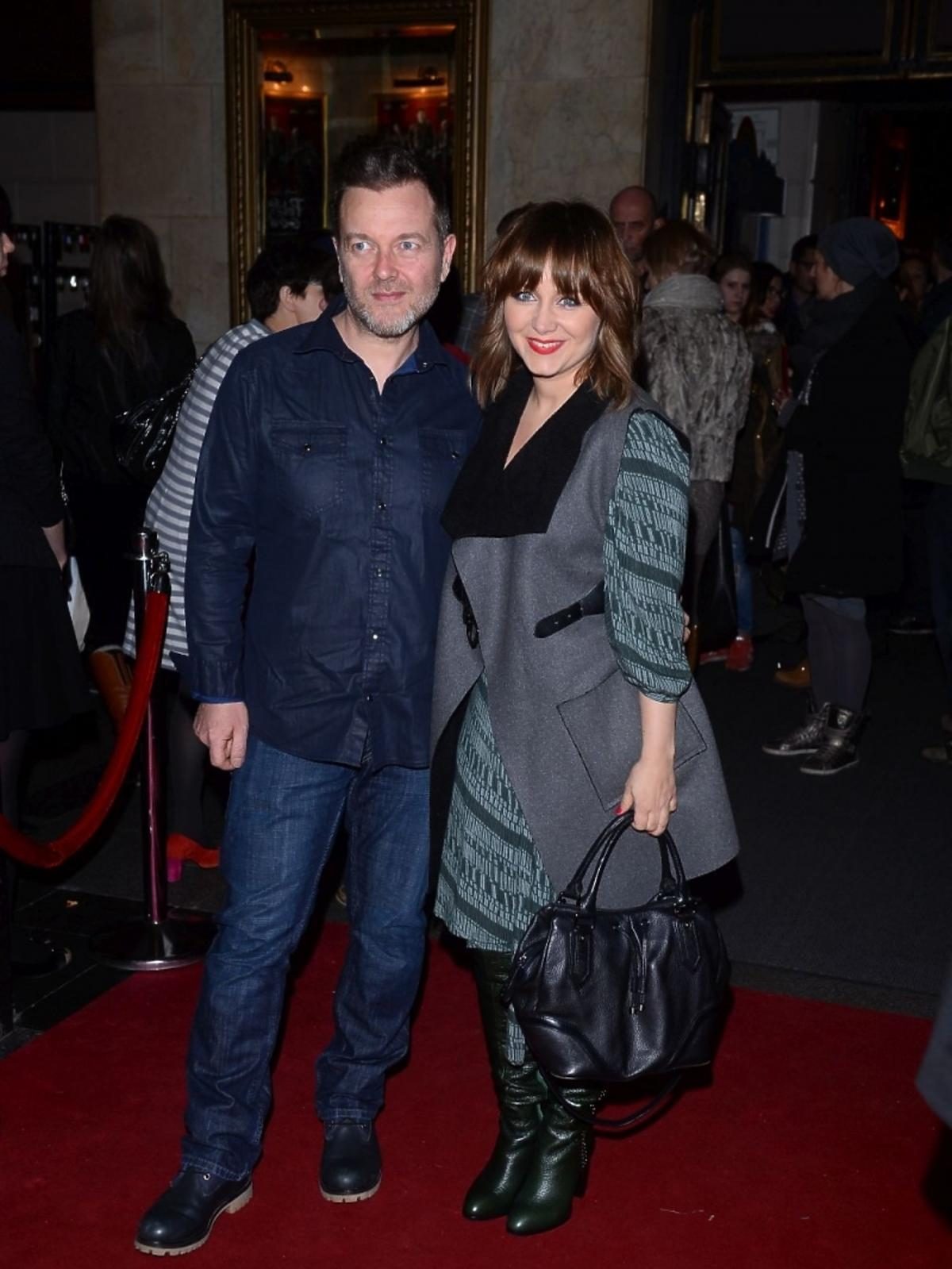 Katarzyna Klich z mężem na premierze