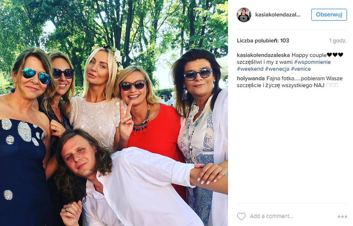 Katarzyna Kolenda Zaleska na ślubie Agnieszki Szulim