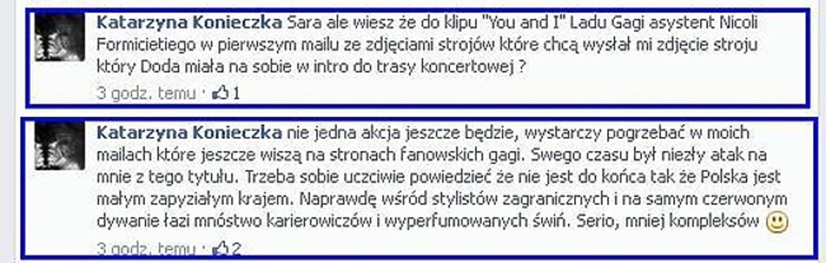 Katarzyna Konieczko broni Dody