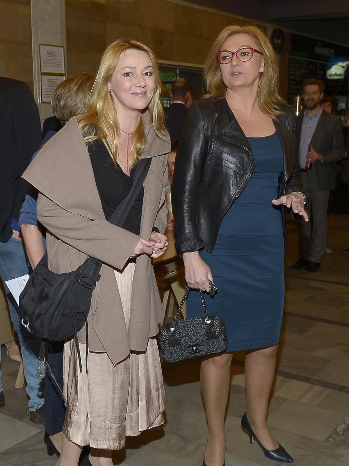 Katarzyna Kwiatkowska i Małgorzata Walewska na premierze spektaklu