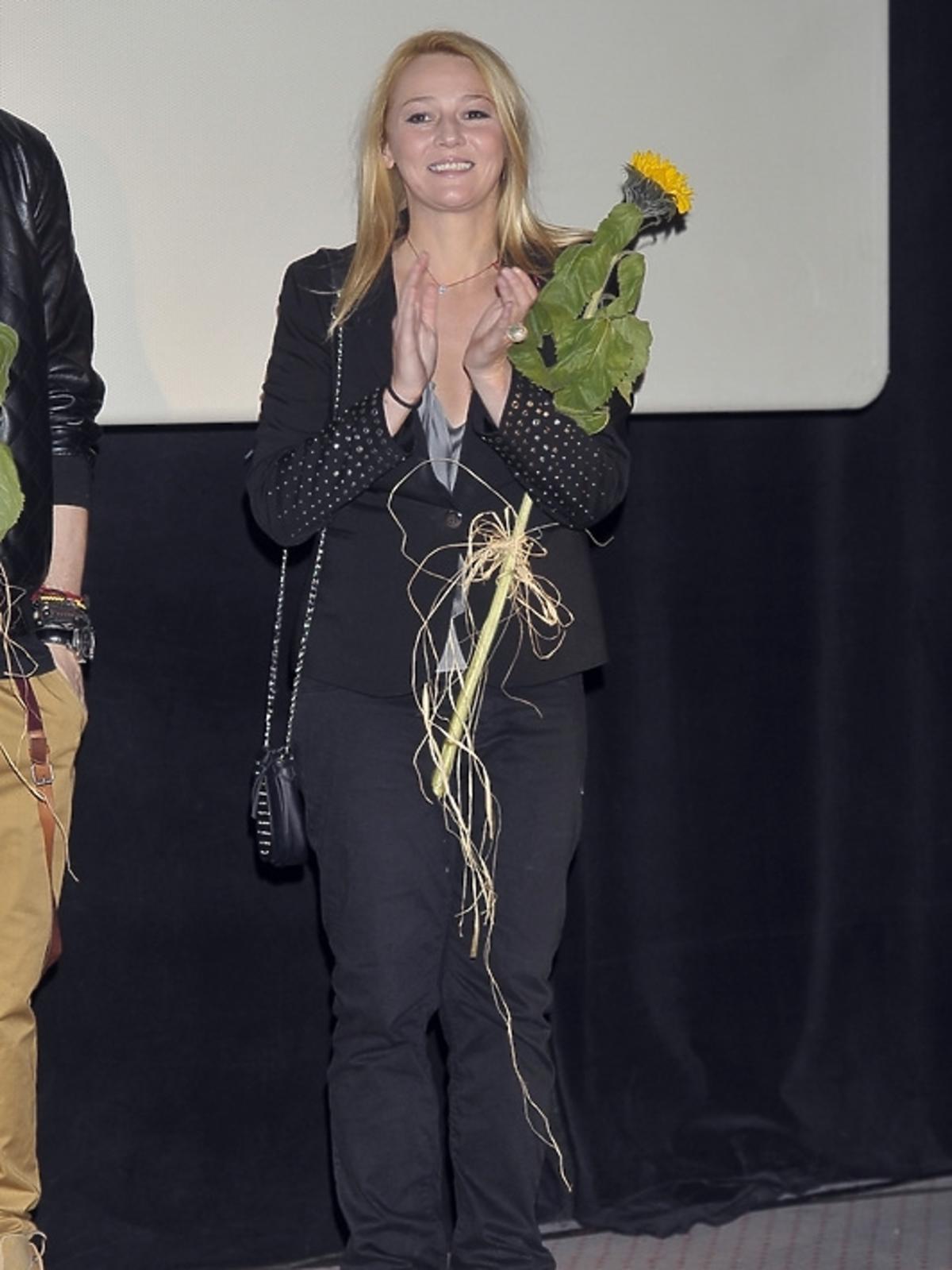 Katarzyna Kwiatkowska na premierze filmu