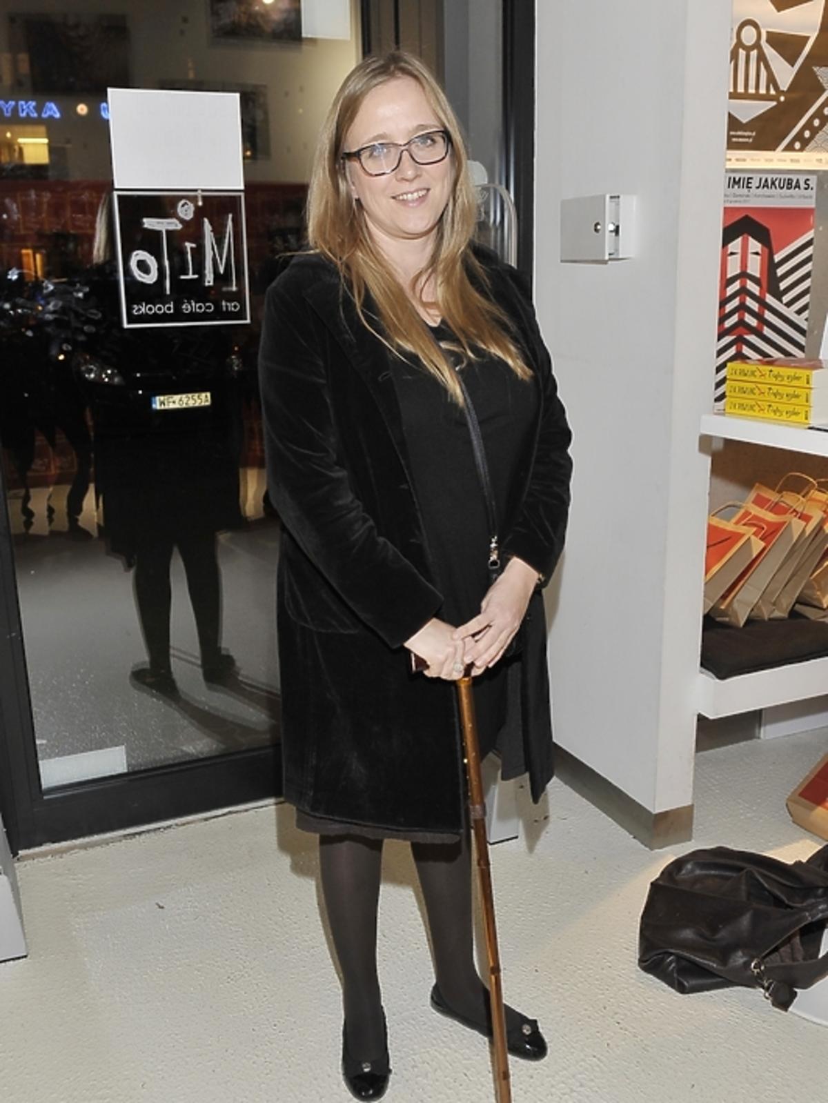 Katarzyna Montgomery na premierze książki J.K.Rowling