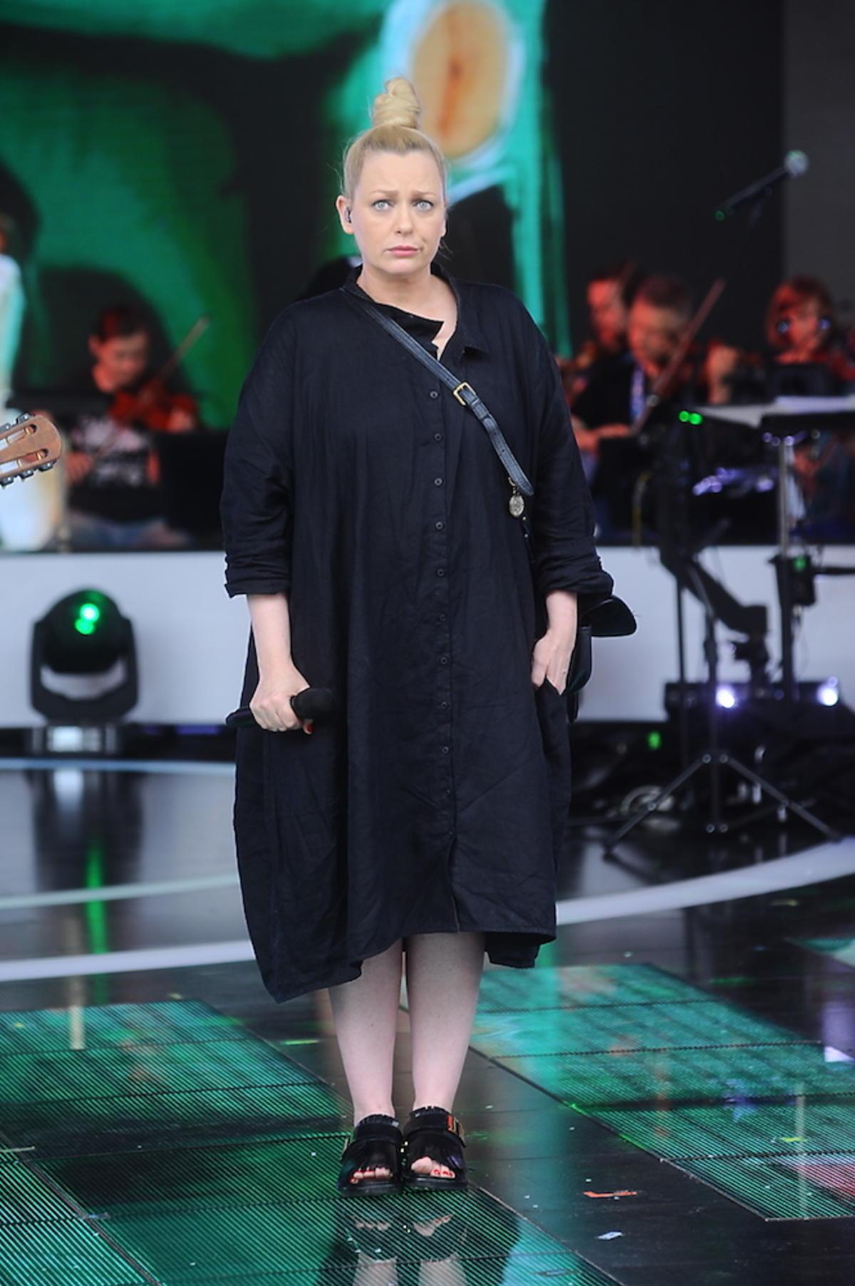 Katarzyna Nosowska na scenie w Opolu