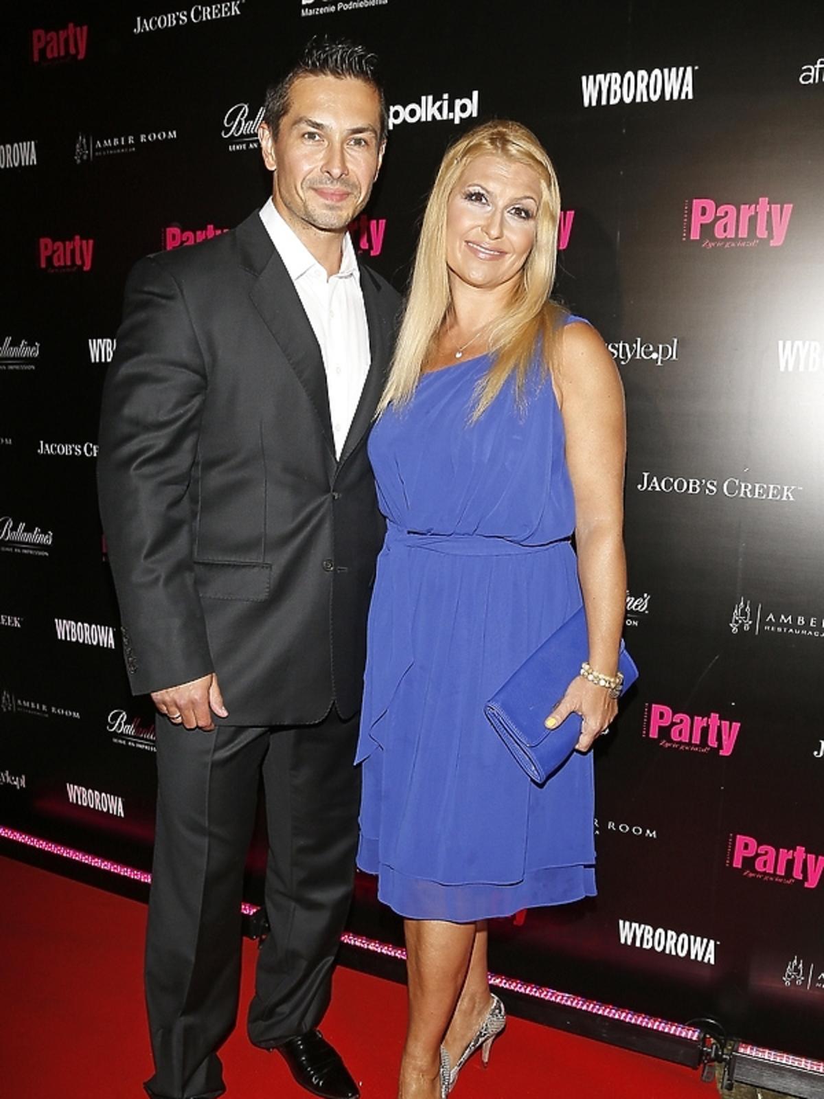 Katarzyna Skrzynecka i Marcin Łopucki na 7. urodzinach Party