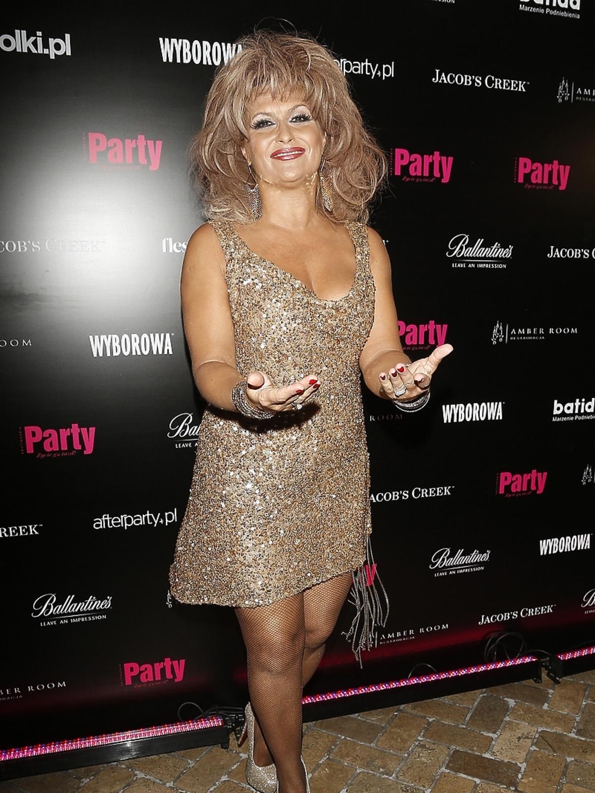 Katarzyna Skrzynecka jako Tina Turner na 7. urodzinach Party