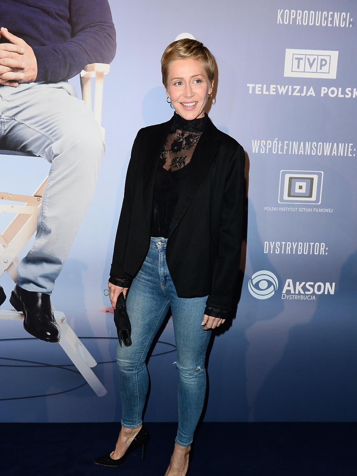 Katarzyna Warnke na premierze filmu