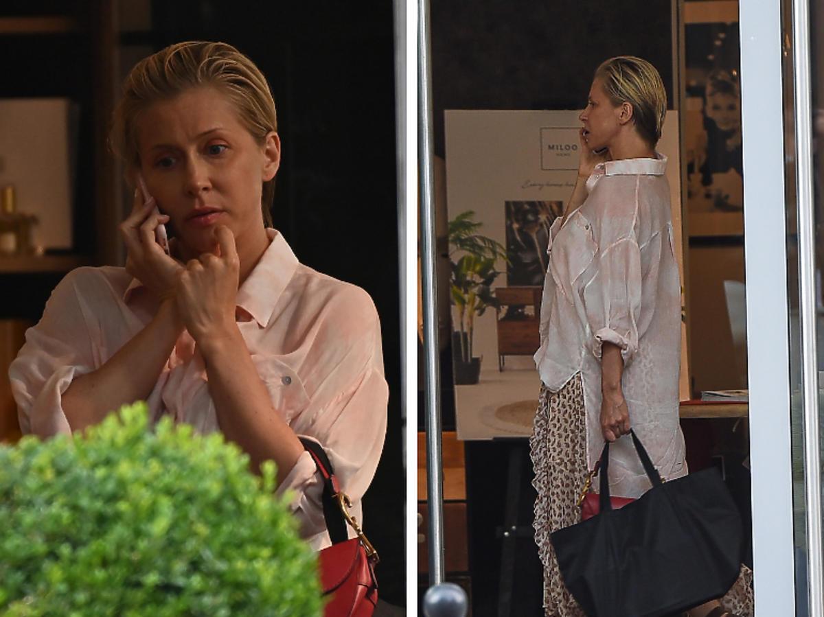 Katarzyna Warnke rozmawia przez telefon