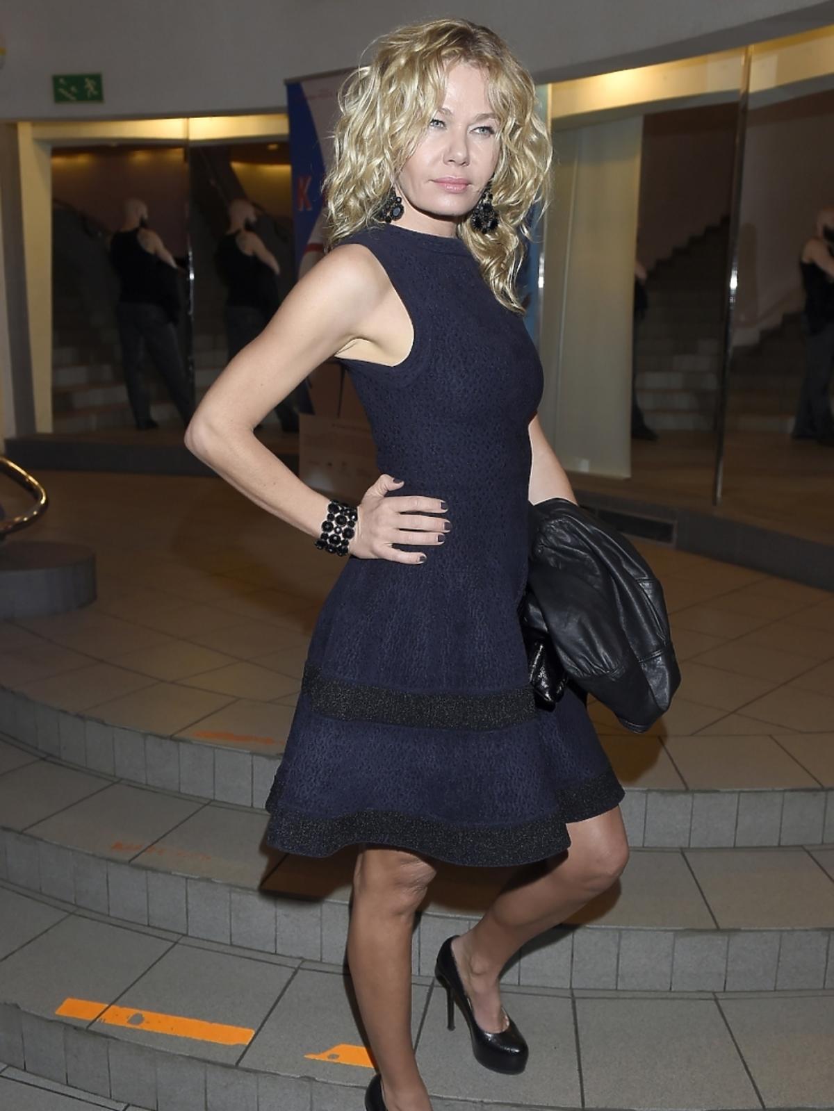 Katarzyna Wołejnio na premierze filmu