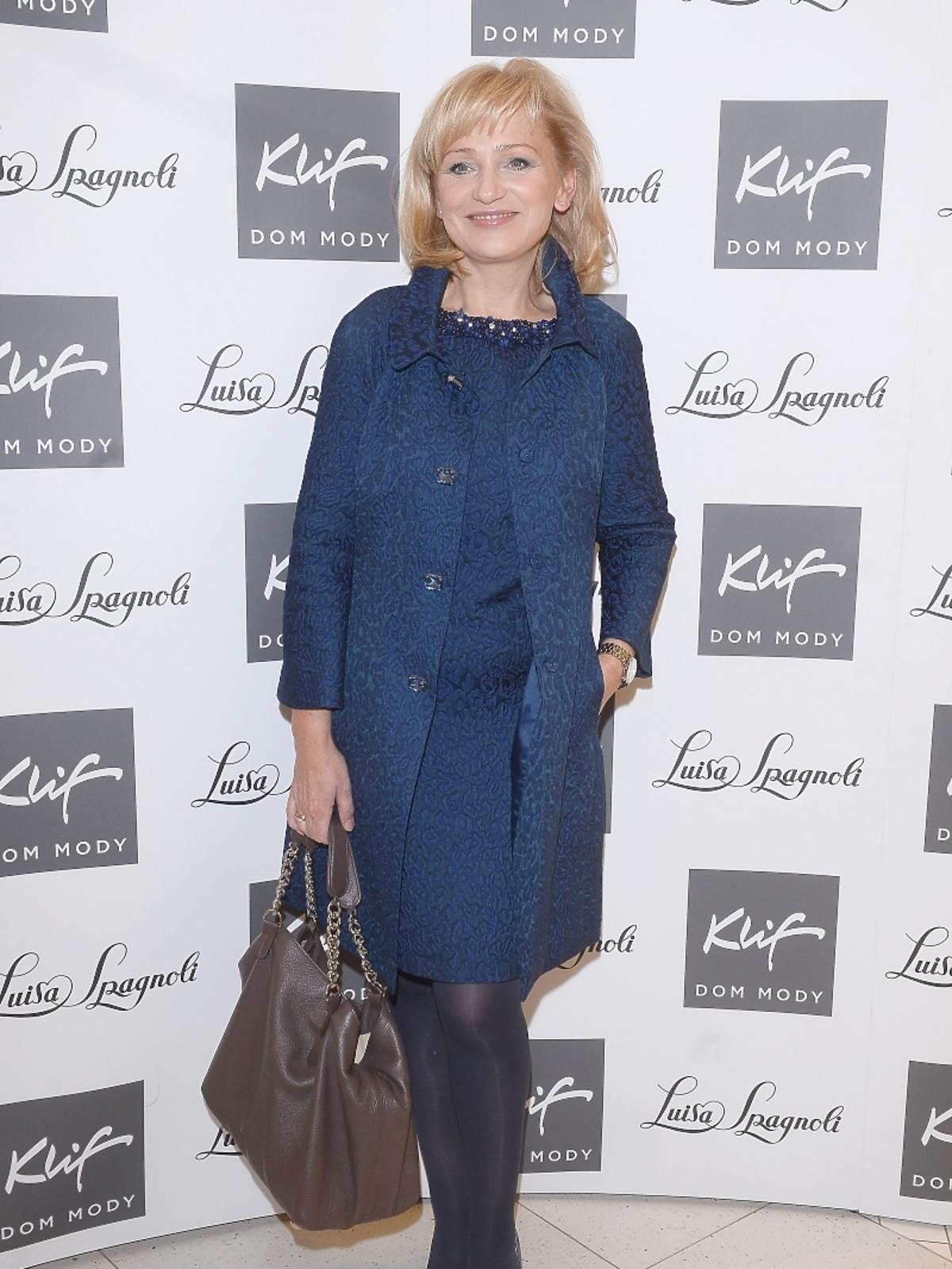 Katarzyna Żak na otwarciu butiku Luisa Spagnoli