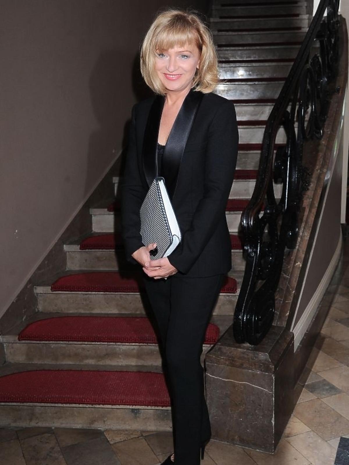 Katarzyna Żak na premierze spektaklu Zwariowana terapia