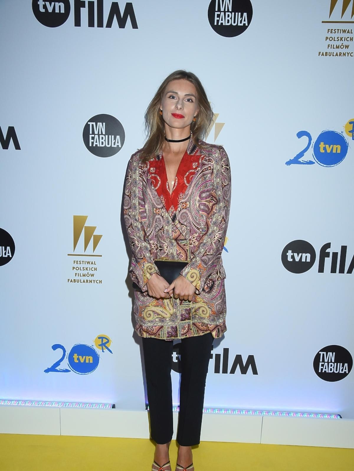 Katarzyna Zawadzka na imprezie TVN na Festiwalu Filmowym w Gdyni