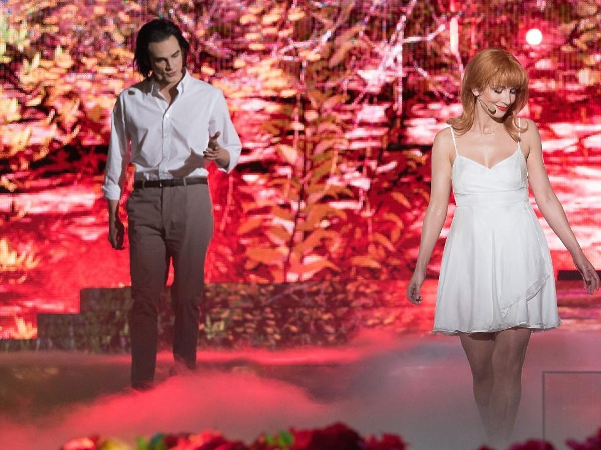 Katarzyna Zielińska i Adam Fidusiewicz jako Kylie Minogue i Nick Cave