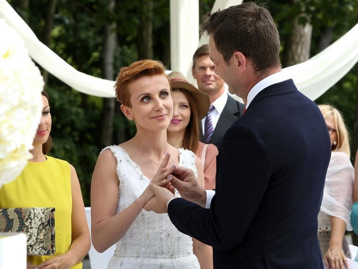 Katarzyna Zielińska i Jacek Rozenekw serialu Barwy Szczęścia