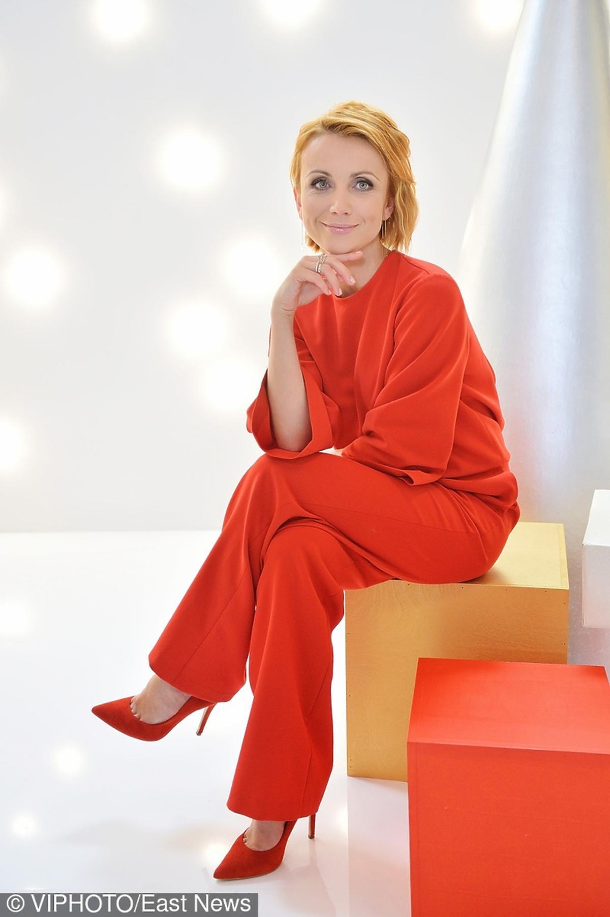 Katarzyna Zielińska na nagraniu świątecznego programu w stacji TLC