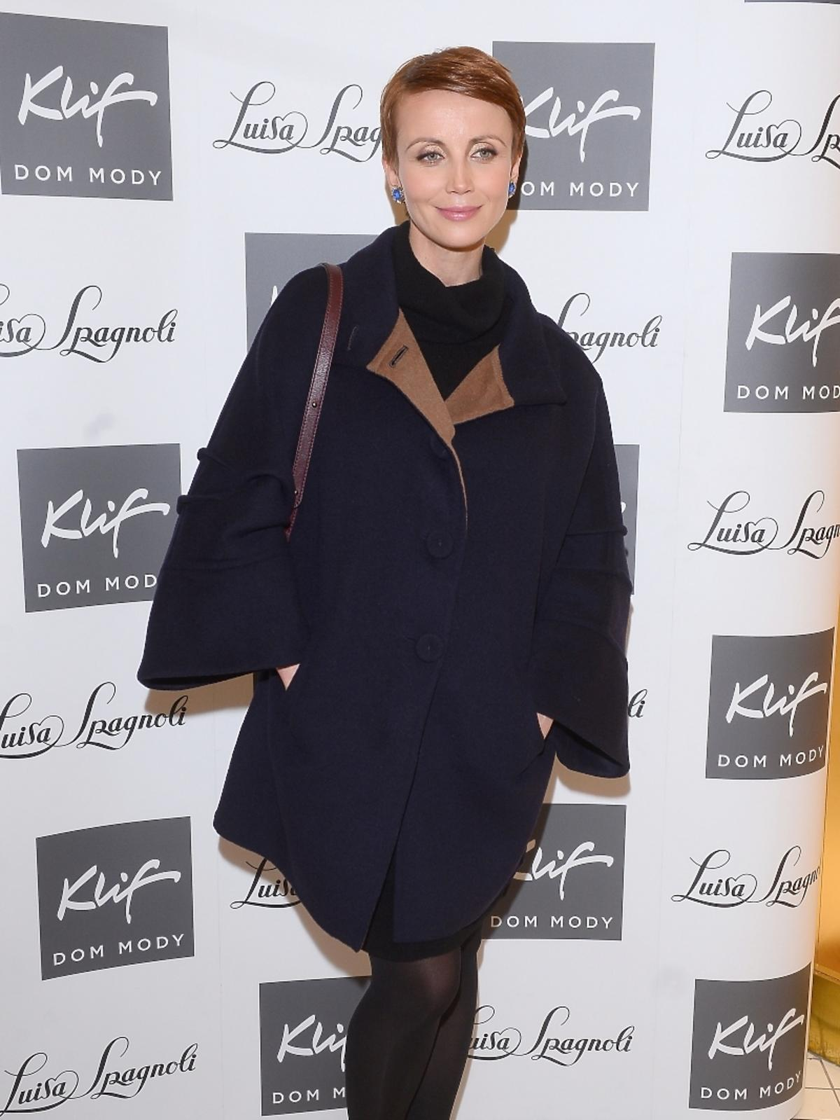 Katarzyna Zielińska na otwarciu butiku Luisa Spagnoli