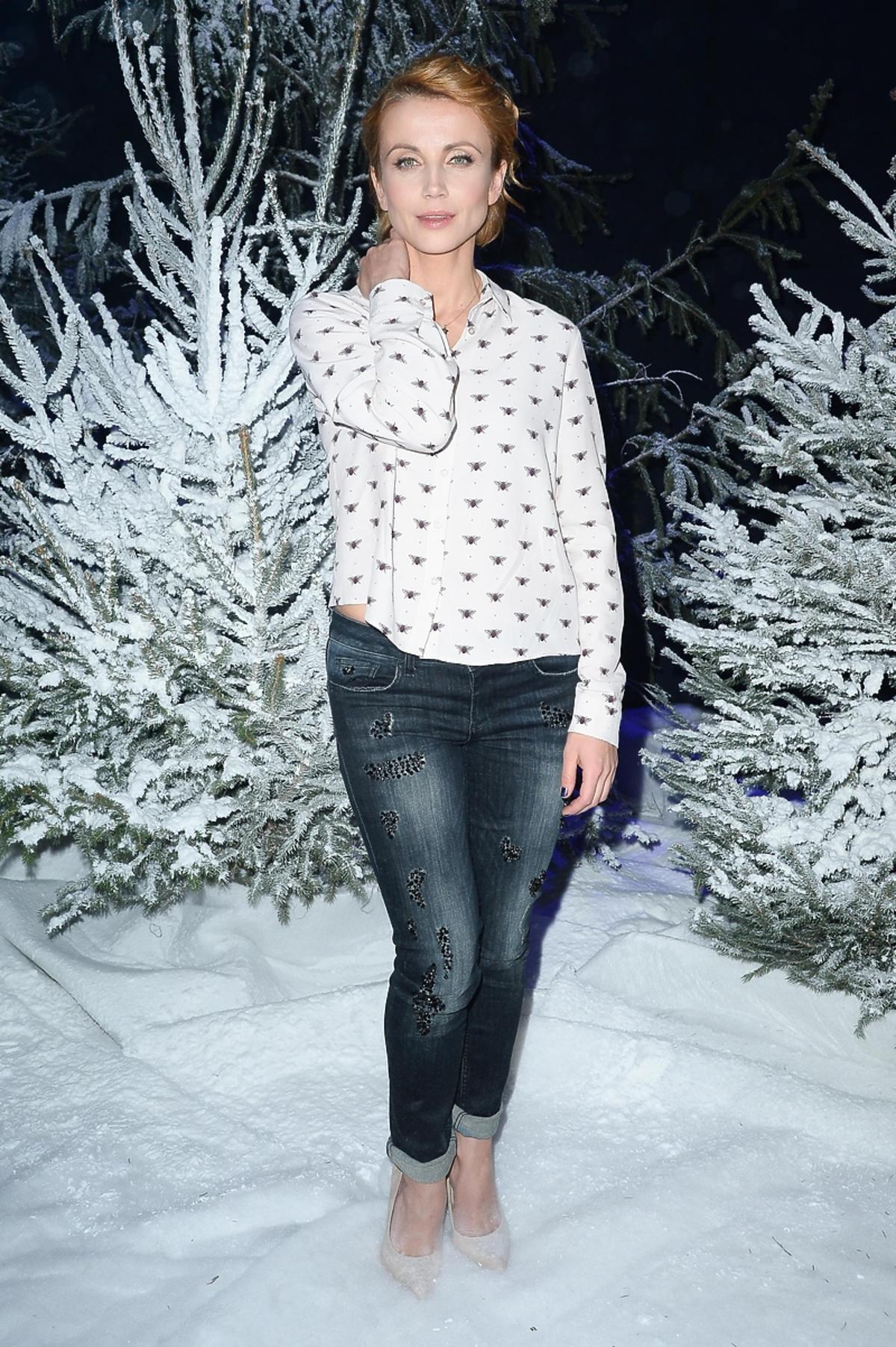 Katarzyna Zielińska na planie świątecznego odcinka