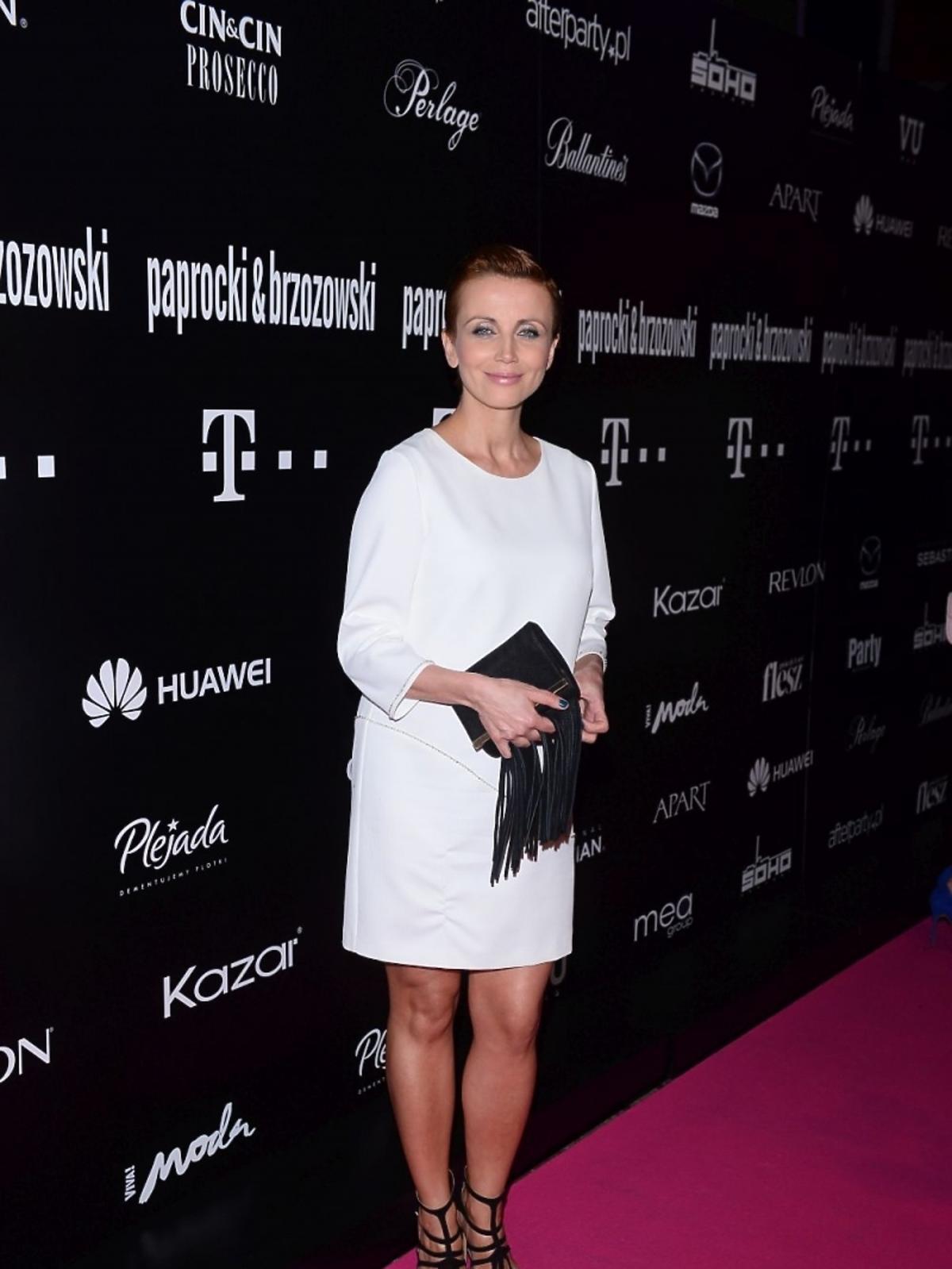 Katarzyna Zielińska na pokazie kolekcji Paprocki&Brzozowski