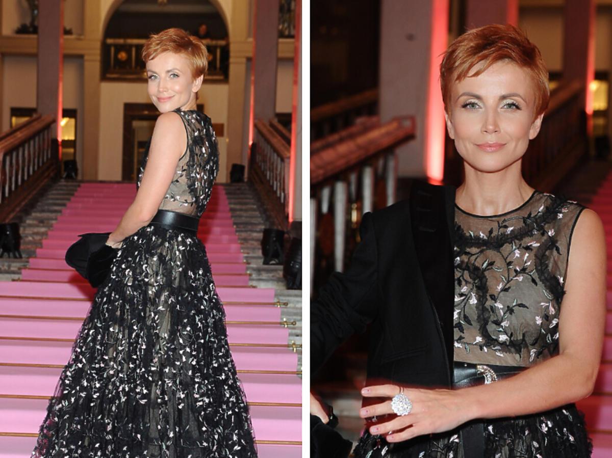 Katarzyna Zielińska na pokazie nowej kolekcji H&M i Giambattista Valli
