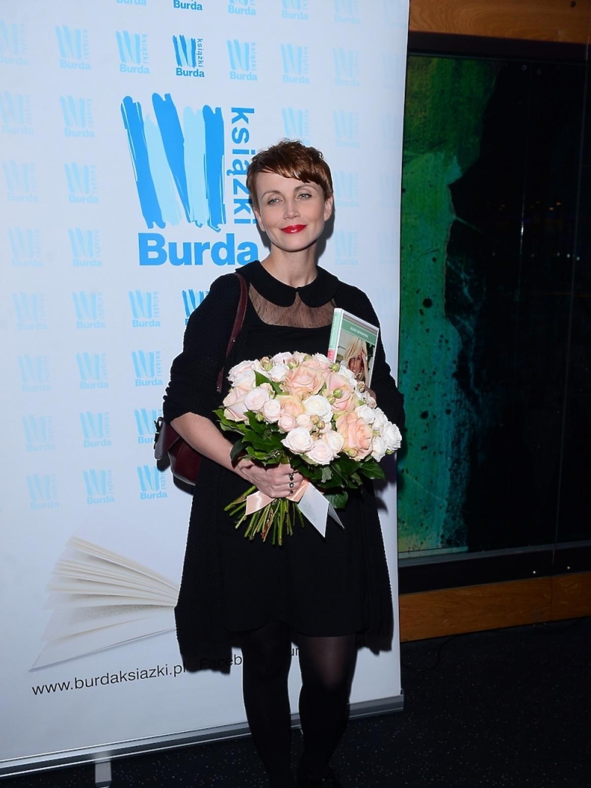 Katarzyna Zielińska na premierze książki Agaty Młynarskiej