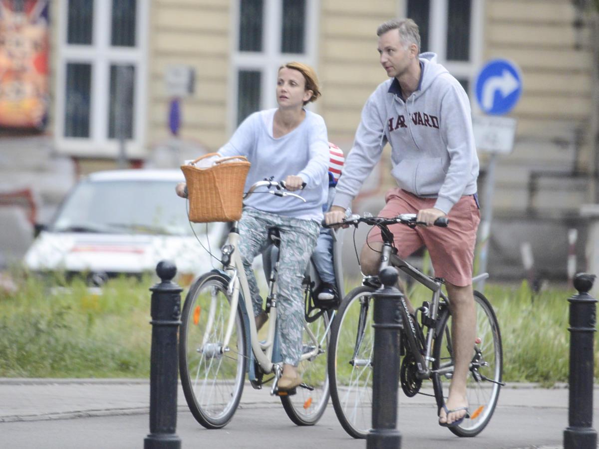 Katarzyna Zielińska na rowerze