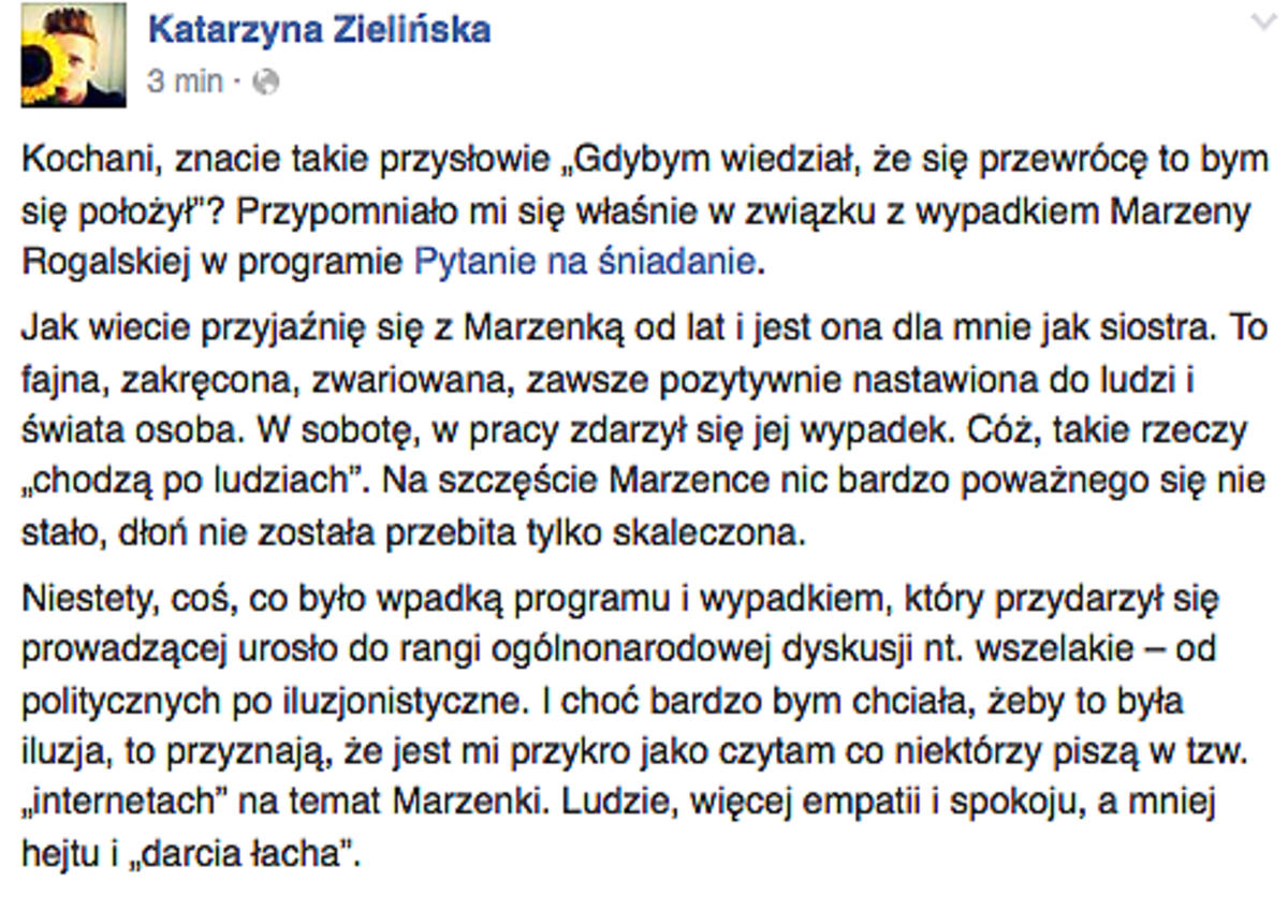 Katarzyna Zielińska o Marzenie Rogalskiej