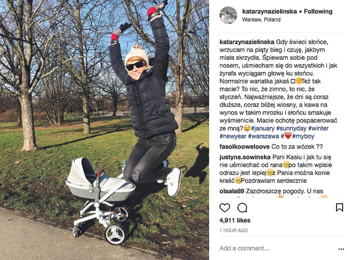 Katarzyna Zielińska pokazała drugi wózek dla synka