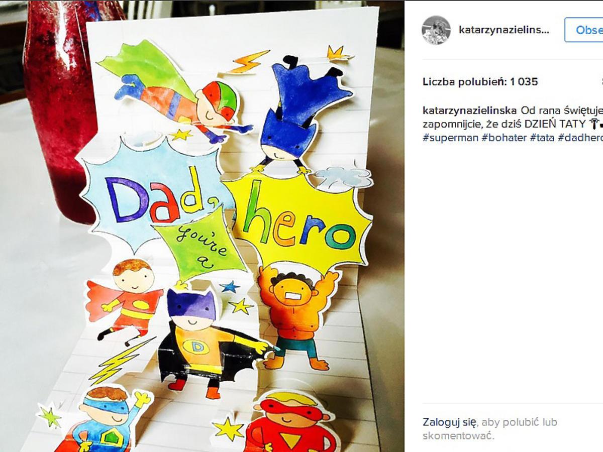 Katarzyna Zielińska świętuje Dzień Ojca