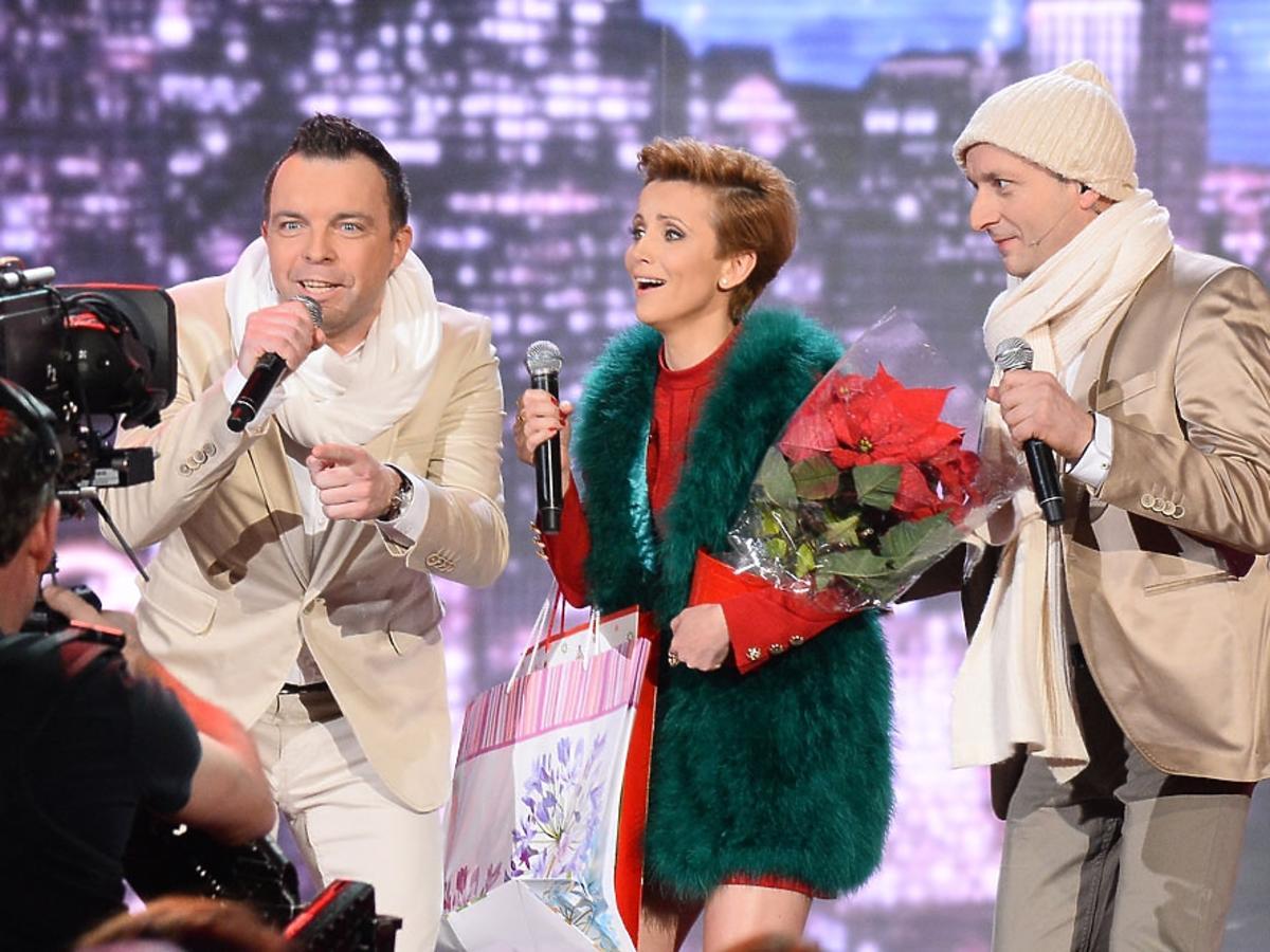 Katarzyna Zielińska w zielonym futrze