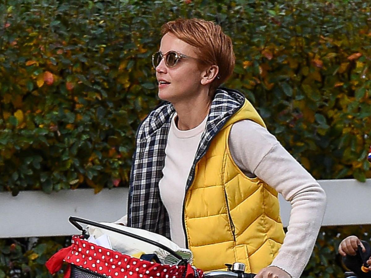 Katarzyna Zielińska w żółtej kamizelce