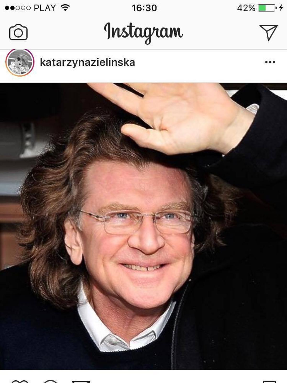 Katarzyna Zielińska żegna Zbigniewa Wodeckiego