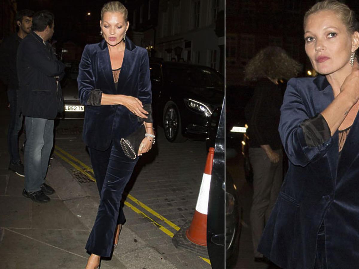 Kate Moss aksamitny garnitur