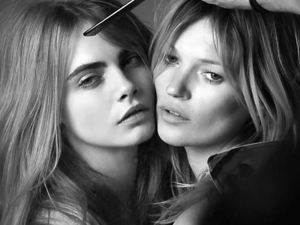 "Kate Moss i Cara Delevingne w sesji dla ""My Burberry"""