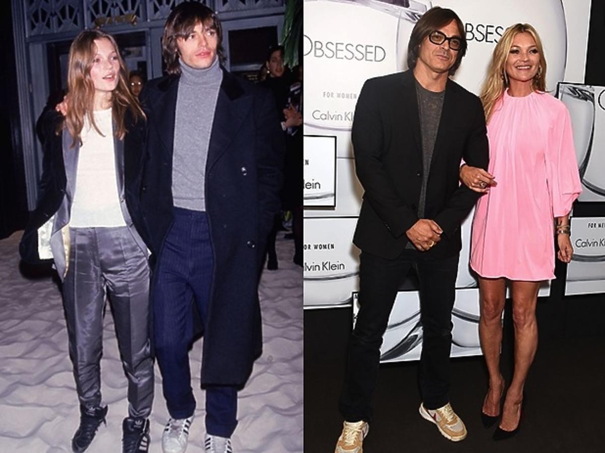 Kate Moss i Mario Sorrenti w 1993r. oraz w 2017r.