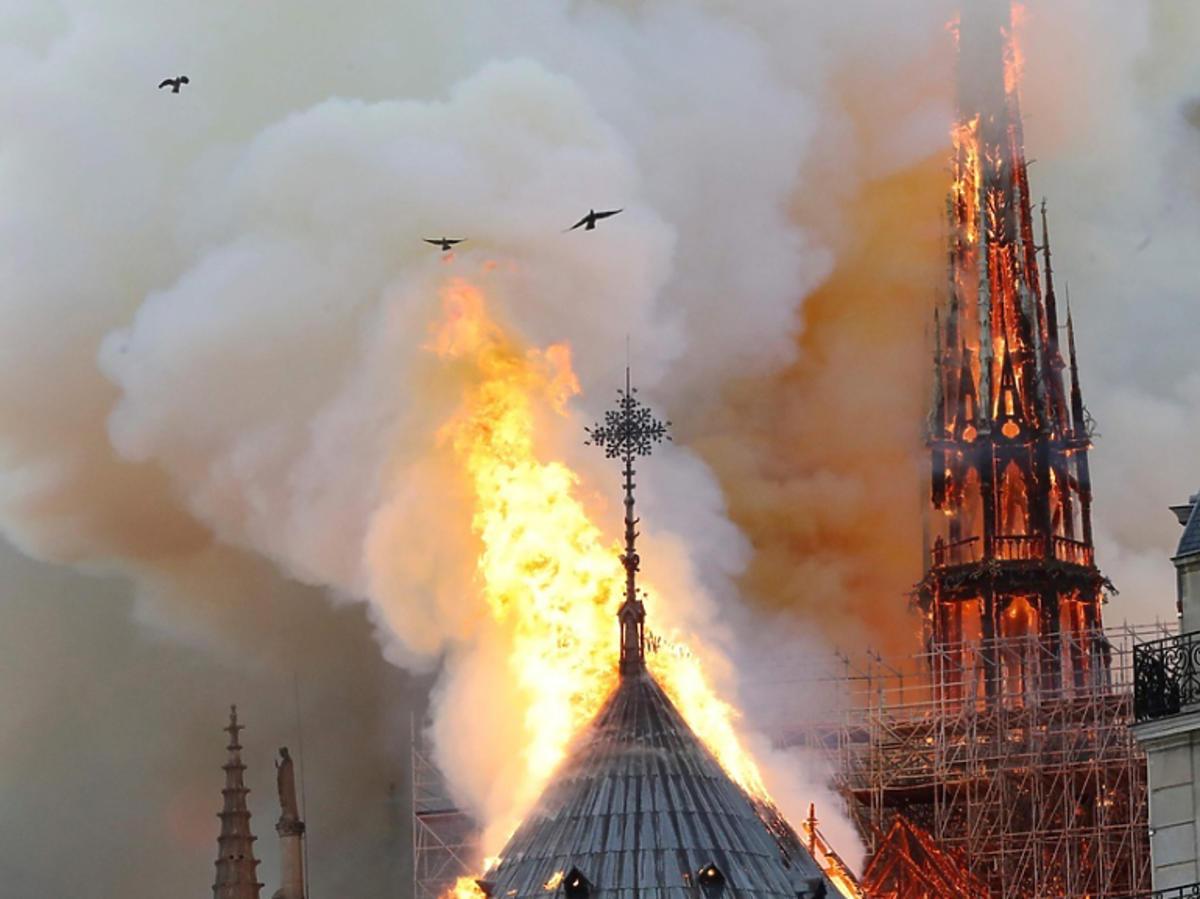 katedra Notre Dame płonie