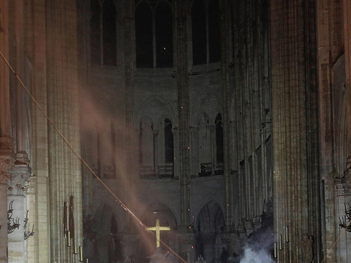 katedra Notre Dame po pożarze jak wygląda w środku