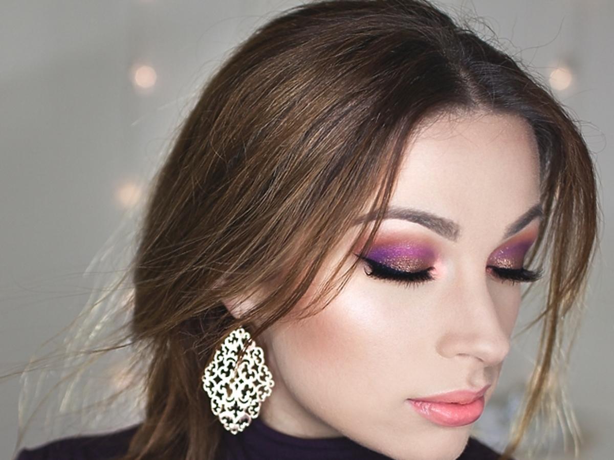 KatOsu - fioletowy makijaż