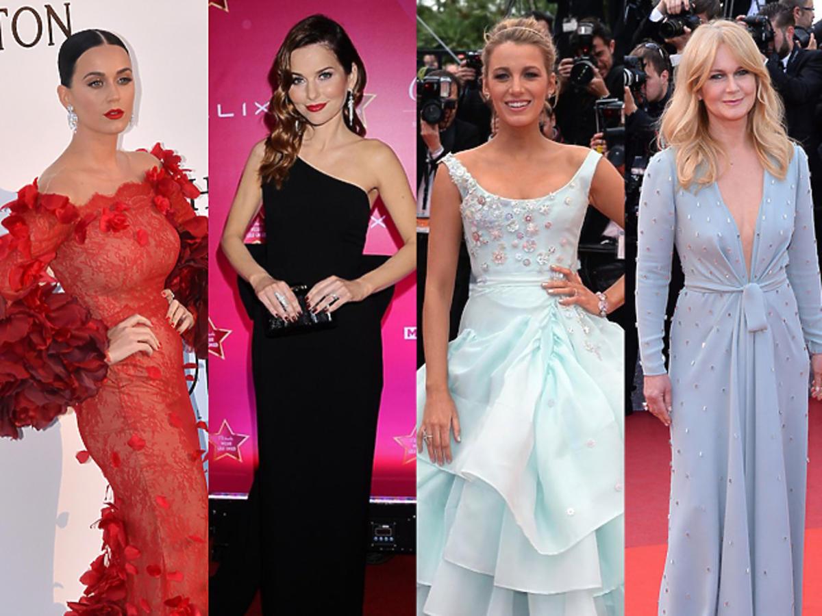 Katy Perry, Paulina Sykut, Blake Lively, Grażyna Torbicka, Joanna Przetakiewicz w pięknych sukniach