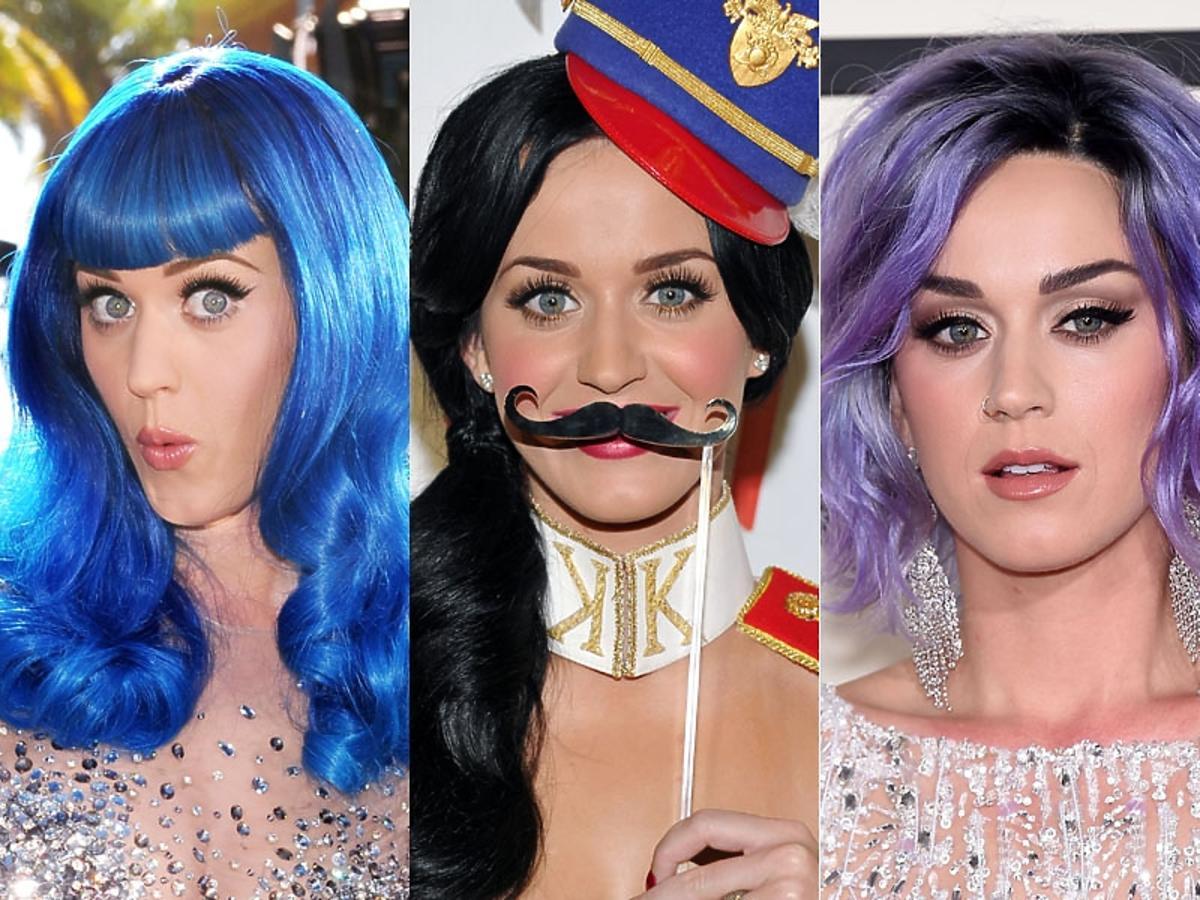 Katy Perry w kolorowych włosach