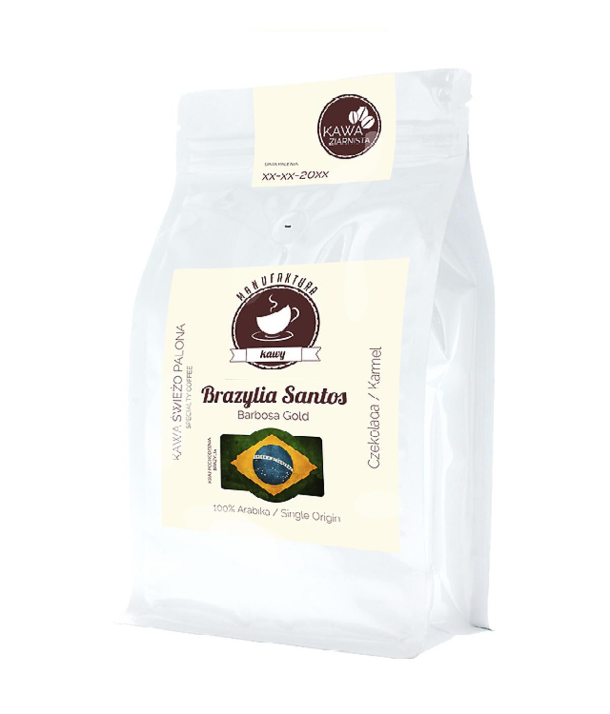 Kawa ziarnista Brazylia Santos Barbosa Gold, Manufaktura Kawy / manufakturakawy.com, 29,99 zł