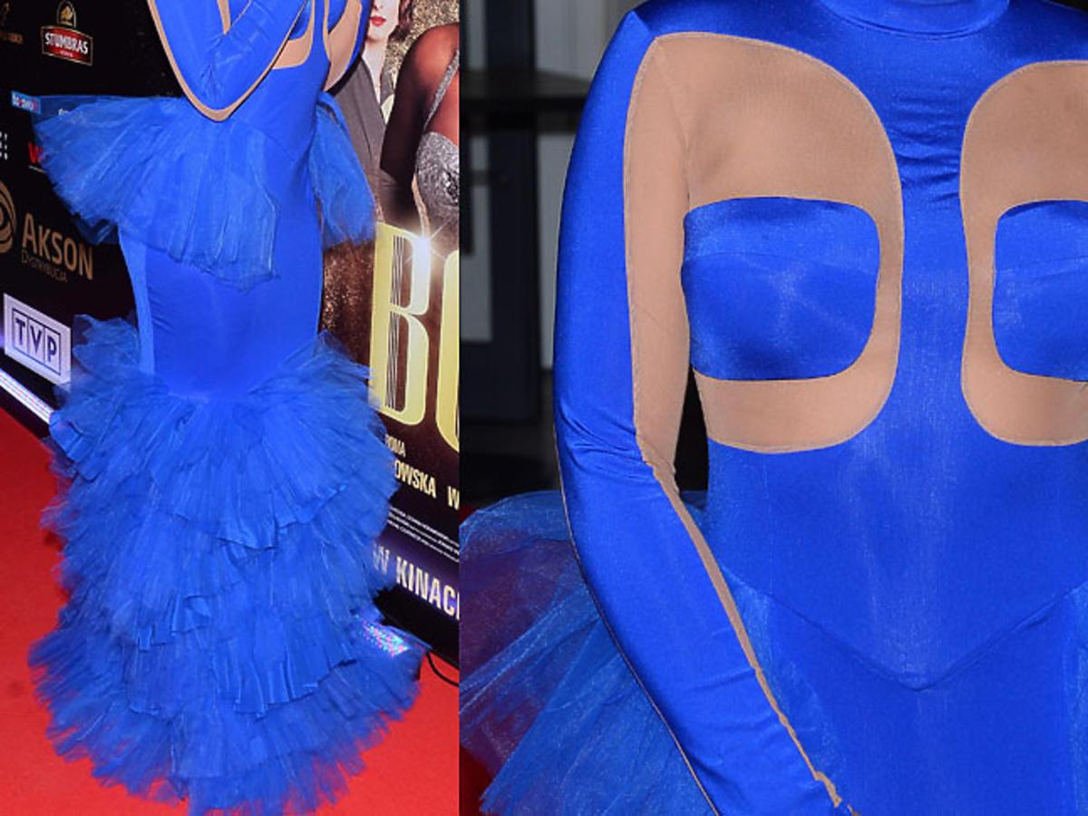 Kazadi w niebieskiej sukni