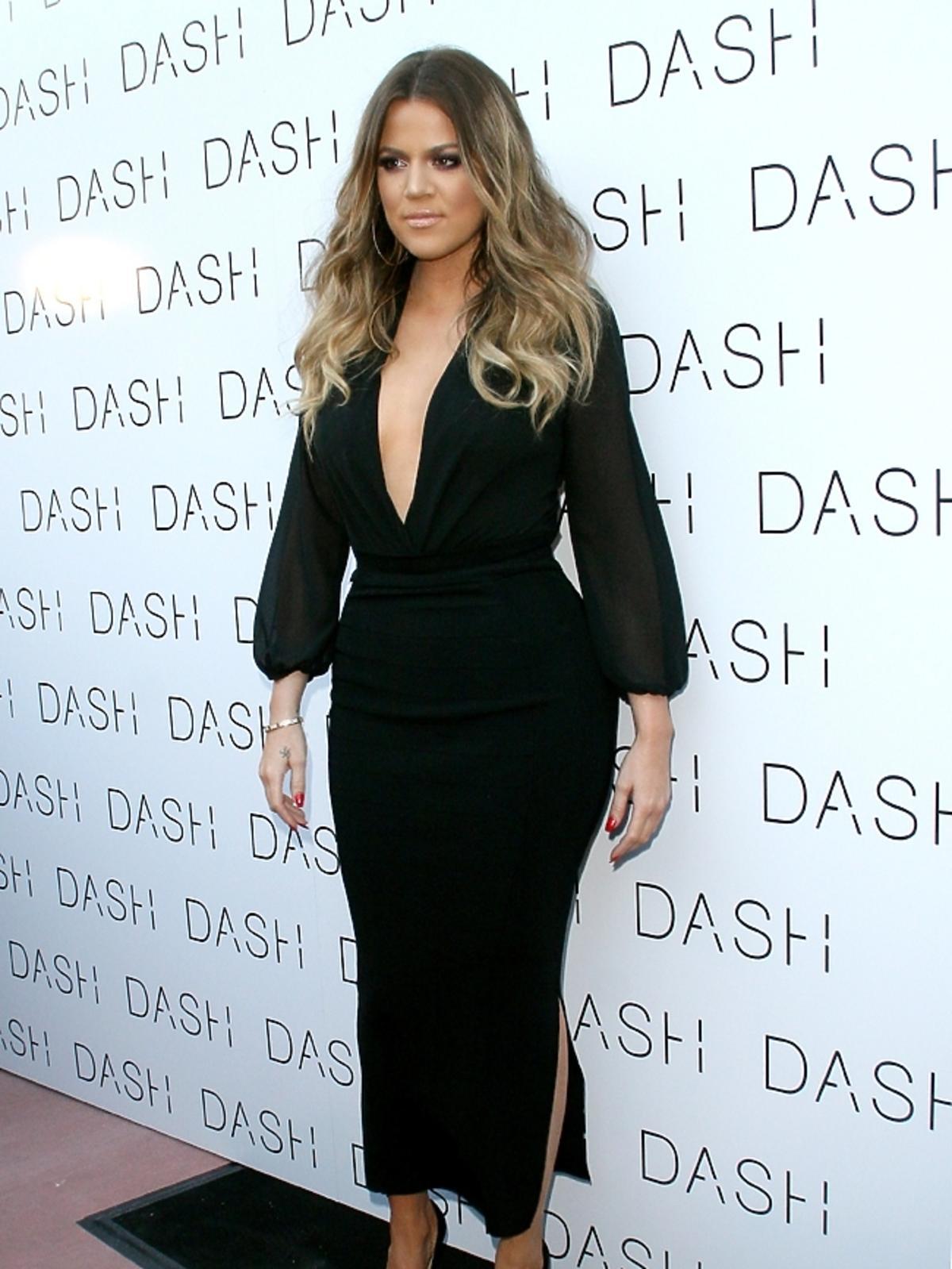 Khloe Kardashian na otwarciu sklepu DASH Miami Beach w Miami