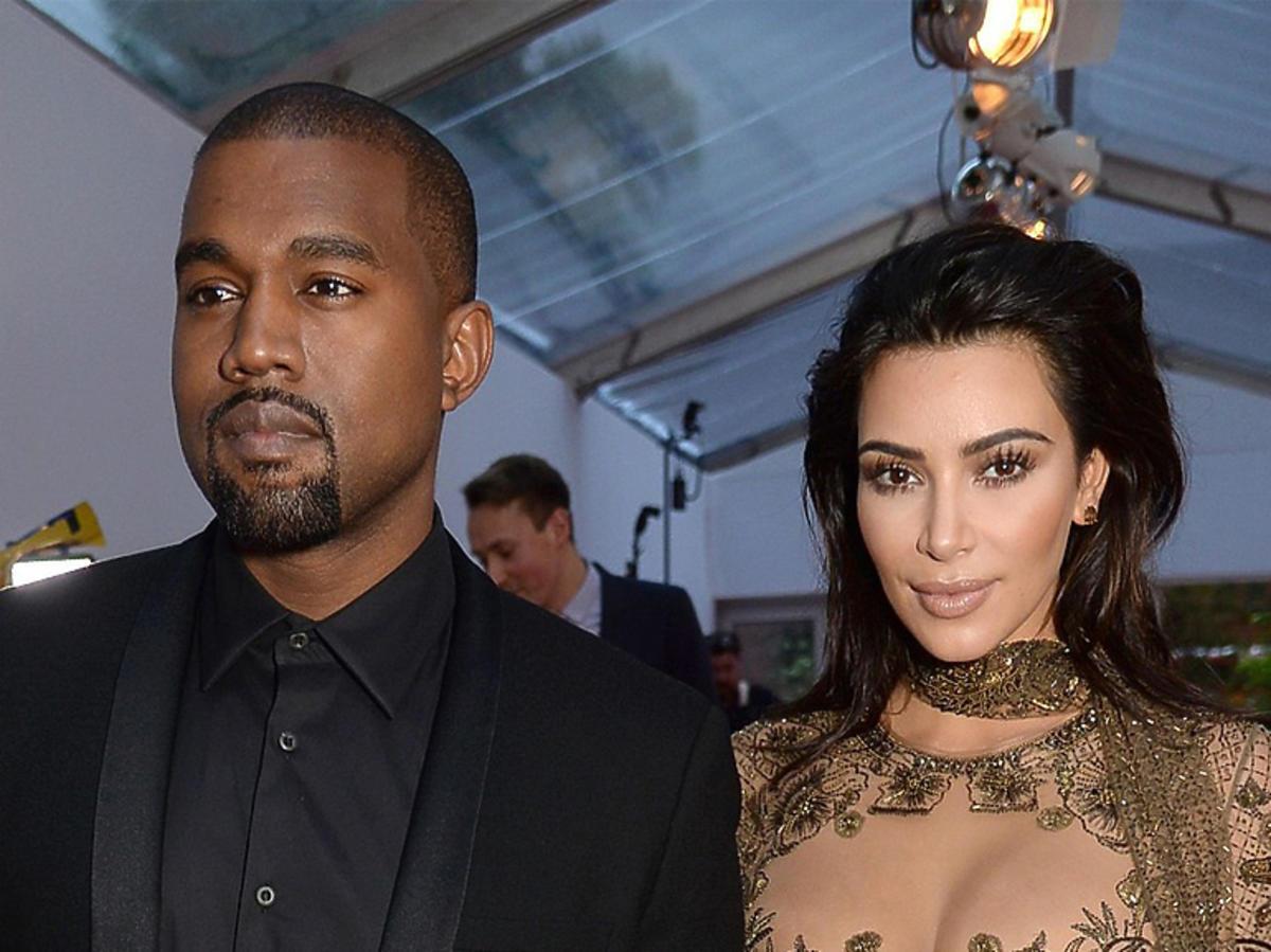 Kim Kardashian i Kanye West na imprezie w Nowym Jorku