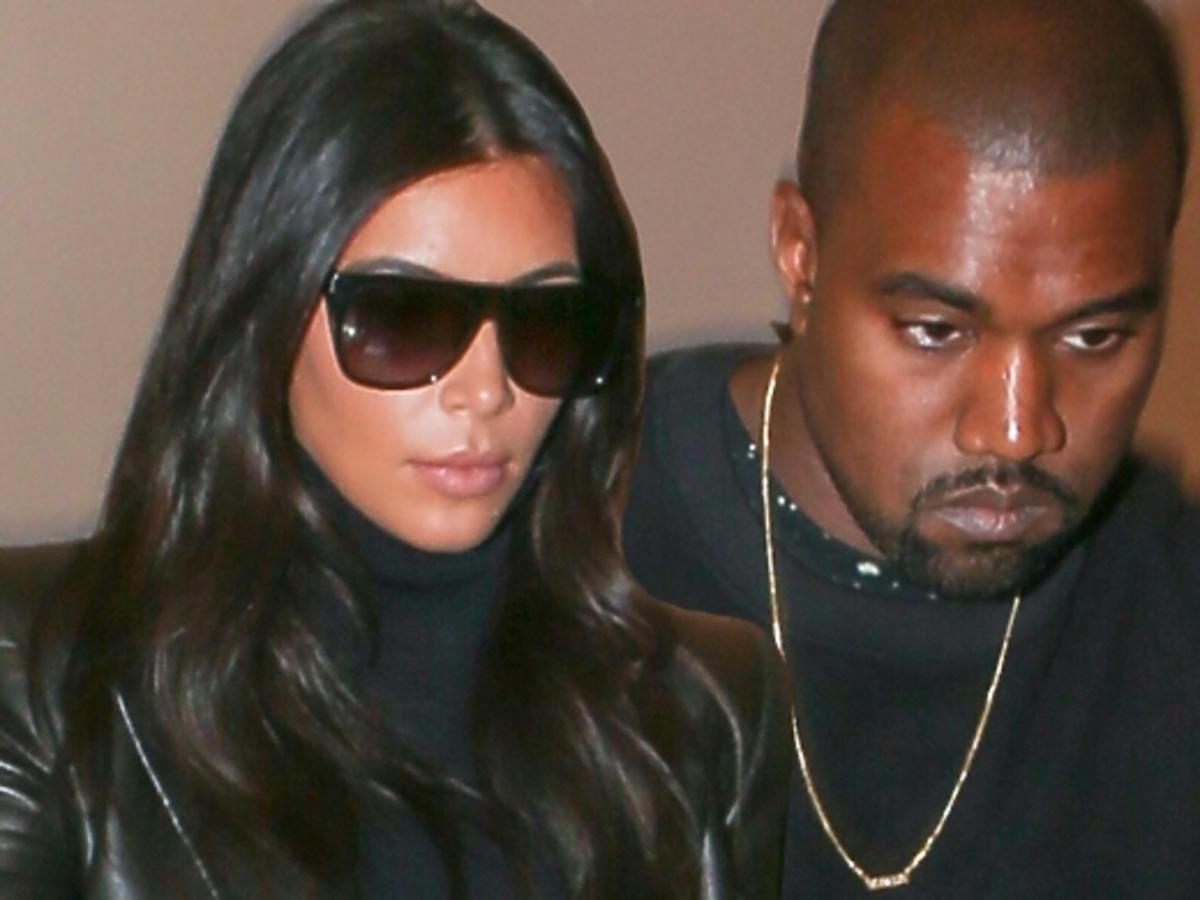 Kim Kardashian i Kanye West na lotnisku LAX w Los Angeles