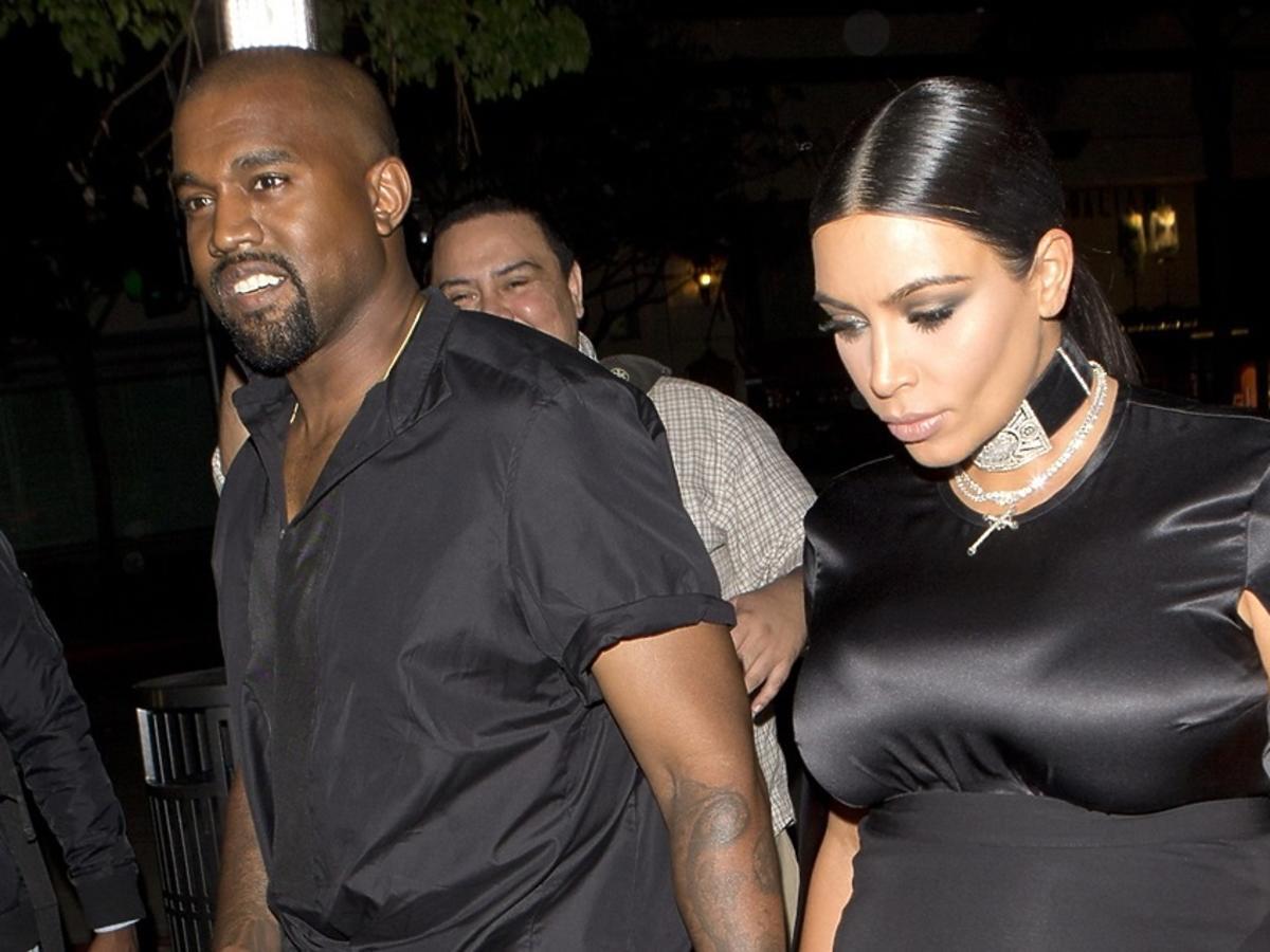 Kim Kardashian i Kanye West ubrani na czarno