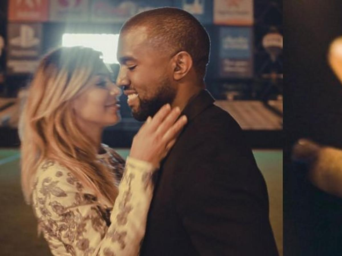 Kim Kardashian, Kanye West podczas zaręczyn w San Francisco