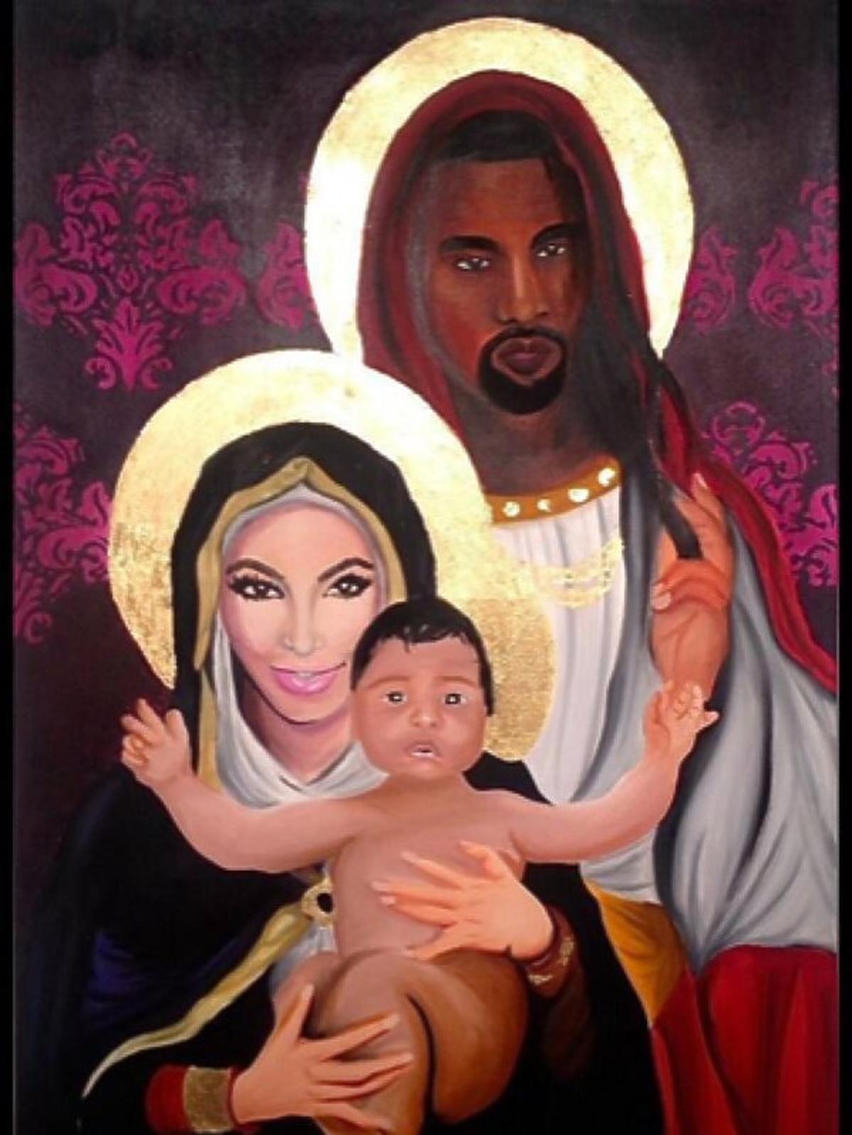 Kim Kardashian, Kanye West, Saint West